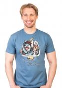náhled - Dřezcode modré pánske tričko