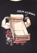 náhled - Korba čierne pánske tričko