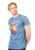 náhled - Korba modré pánske tričko