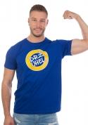 náhled - Drž úhel modré pánske tričko