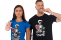 náhled - Odstup vegane čierne pánske tričko