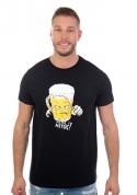 náhled - Netoč mě čierne pánske tričko