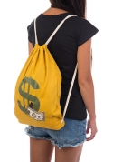 náhled - Pytel doláčů žltý vak na chrbát