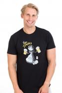 náhled - Na tahu čierne pánske tričko