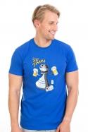náhled - Na tahu modré pánske tričko