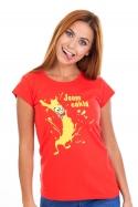 náhled - Cáklá červené dámske tričko