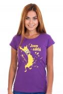 náhled - Cáklá fialové dámske tričko