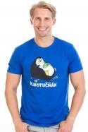 náhled - Plnotučňák tmavo modré pánske tričko