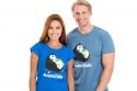 náhled - Plnotučňák modré pánske tričko
