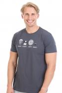 náhled - Trilobite šedé pánske tričko