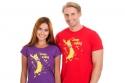 náhled - Cáklej červené pánske tričko