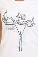 náhled - Vyrýsovanej dámske tričko