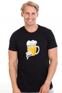 náhled - Velký pívo čierne pánske tričko
