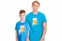 náhled - Malý pívo modré detské tričko