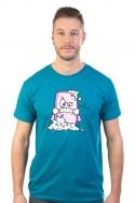 náhled - Zmydlím tě modré pánske tričko