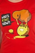 náhled - Kiwi červené dámske tričko