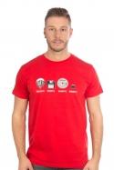 náhled - Trilobite červené pánske tričko