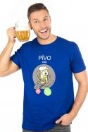 náhled - Pívo volá modré pánske tričko