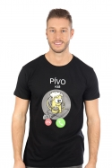 náhled - Pívo volá čierne pánske tričko