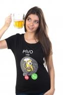 náhled - Pívo volá dámske BIO tričko
