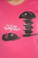 náhled - Vytočený fuchsiové dámske tričko