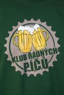 náhled - Klub riadnych píčů zelené pánske tričko