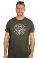 náhled - Alkoholický kompas khaki pánske tričko