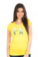 náhled - Prdlá žlté dámske tričko