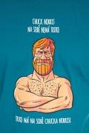 náhled - Chuck Norris modré pánske tričko