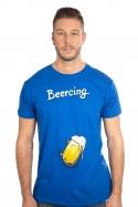 náhled - Beercing modré pánske tričko