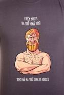 náhled - Chuck Norris šedé pánske tričko