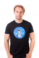 náhled - Nasaj čierne pánske tričko