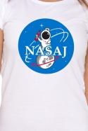 náhled - Nasaj biele dámske tričko