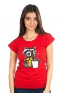 náhled - Strážci galaxie červené dámske BIO tričko