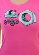náhled - Správná matka ružové dámske BIO tričko
