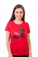 náhled - Vytočenej červené dámske BIO tričko