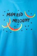 náhled - Melouny modré pánske tričko