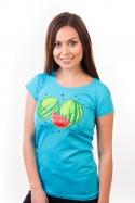 náhled - Melouny modré dámske tričko