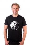 náhled - Jing Jang pivo čierne pánske tričko