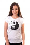 náhled - Jing Jang pivo biele dámske tričko