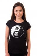 náhled - Jing Jang pivo čierne dámske tričko