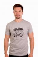 náhled - Alfasumec šedé pánske tričko