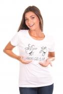 náhled - Kozy biele dámske tričko