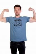 náhled - Alfasumec modré pánske tričko