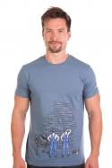 náhled - Zedníci modré pánske tričko
