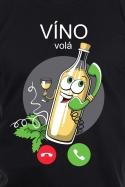 náhled - Biele víno volá pánske tričko