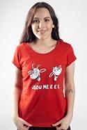 náhled - Kozy červené dámske tričko