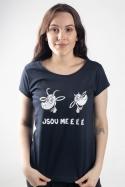 náhled - Kozy tmavo modré dámske tričko