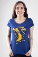 náhled - Cáklá modré dámske tričko