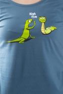 náhled - High Five modré dámske tričko